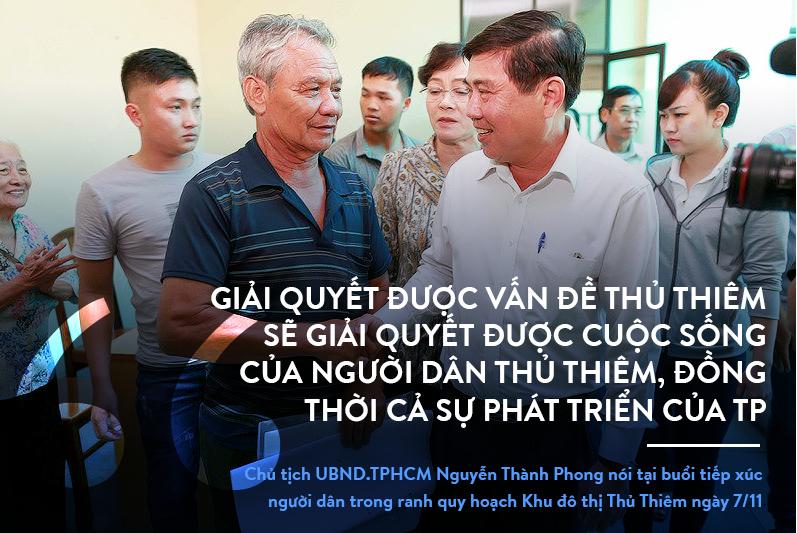 Thủ Thiêm,Nguyễn Thiện Nhân,Nguyễn Thành Phong