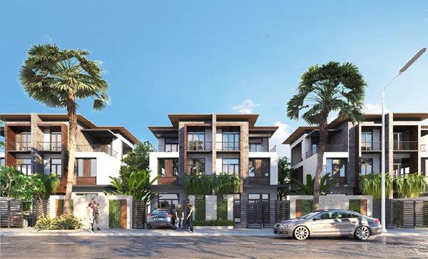 Công trường 'không ngủ' ở dự án Goldsand Hill Villa
