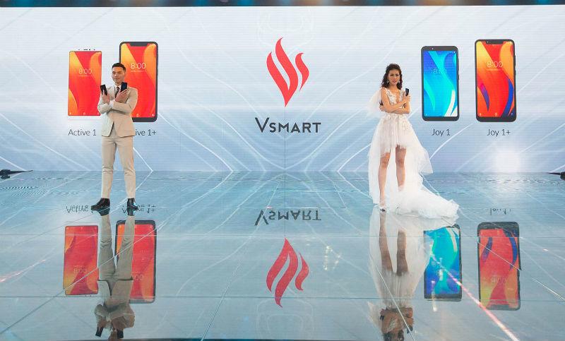Hình ảnh lễ ra mắt 4 mẫu smartphone Vsmart tại TP.HCM