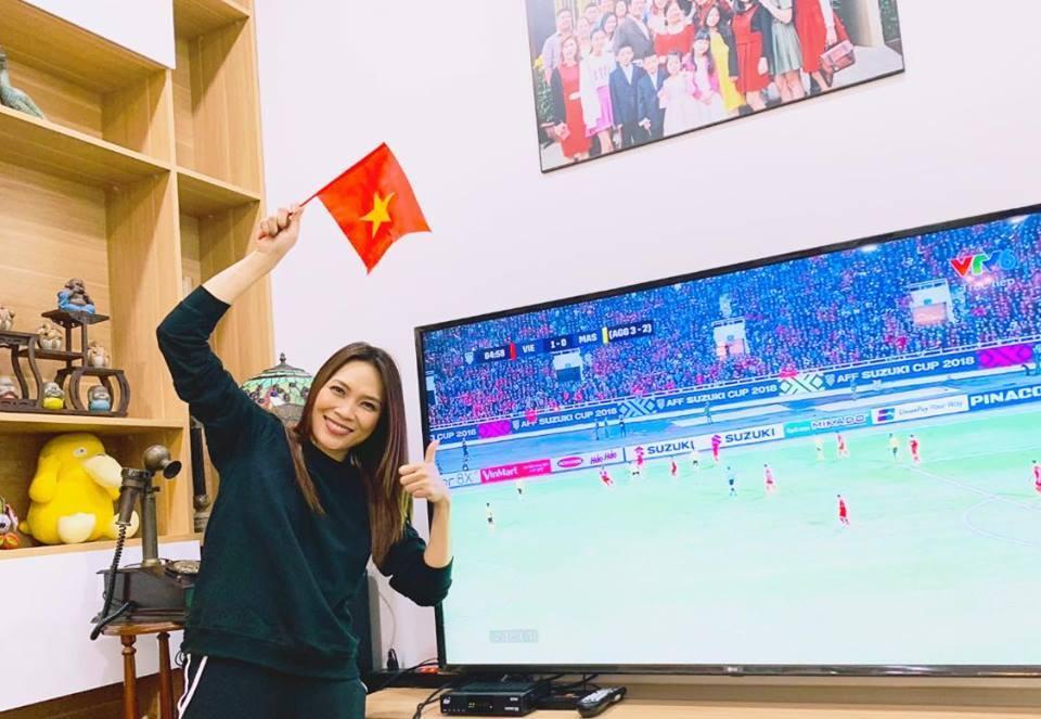 Mỹ Tâm lái 'siêu xe' đi bão mừng Việt Nam vô địch AFF Cup 2018
