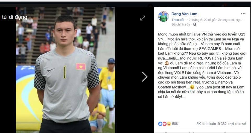 """Lâm """"tây"""": Từ lá thư xin việc đến người hùng tuyển Việt Nam"""