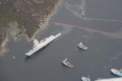 Cận cảnh tàu khu trục Na Uy bị chìm sau tập trận