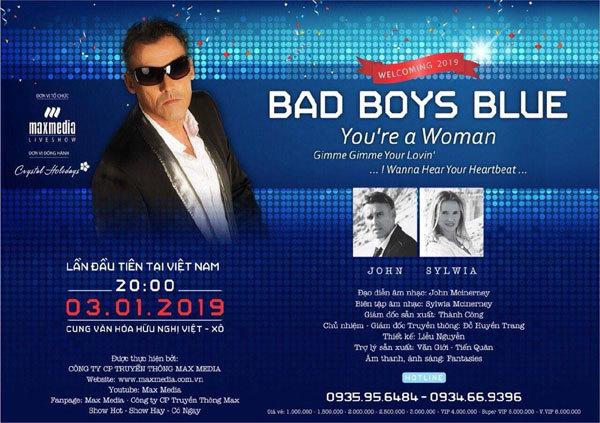 Sức nóng 'tăng nhiệt' đón chờ liveshow Bad Boys Blue huyền thoại