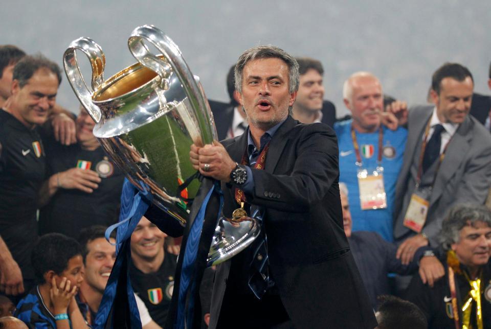 Mourinho,MU,Real Madrid,Inter Milan