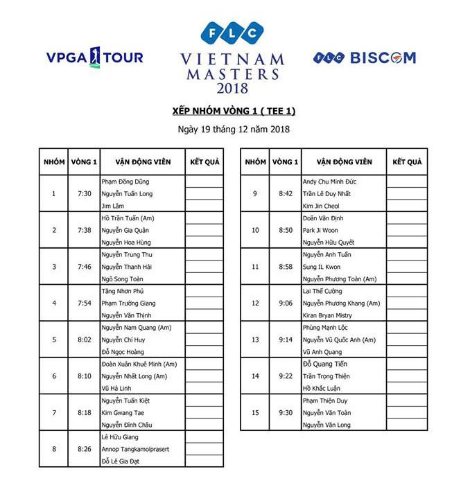 FLC Vietnam Masters 2018: Tưng bừng khai hội, tranh giải thưởng tỷ đồng
