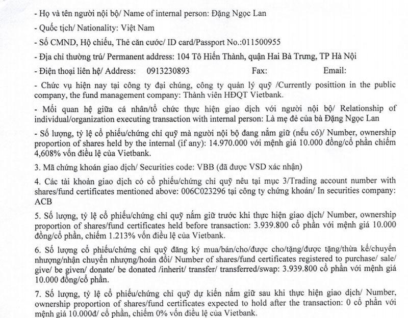 Người nhà Bầu Kiên bán cổ phần rút dần khỏi VietBank