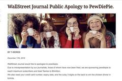 Tờ Wall Street Journal bị hack, đăng lời xin lỗi PewDiePie