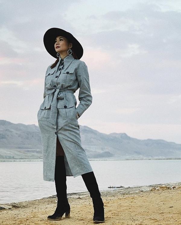 Hồ Ngọc Hà, Thanh Hằng, Minh Hằng sành điệu với mốt áo khoác dáng dài