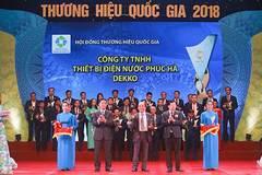 Ống nhựa DEKKO nhận giải thưởng Thương hiệu quốc gia 2018