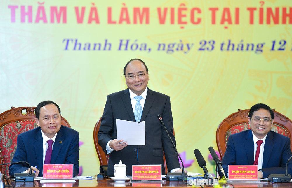 """Thủ tướng: Thanh Hóa cần có tầm nhìn """"tứ sơn"""""""