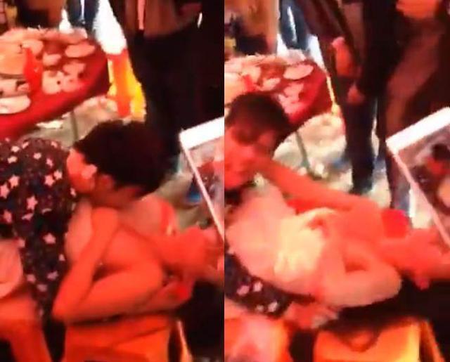 Phù dâu bị khách nam hôn ngấu nghiến lên ngực gây phẫn nộ