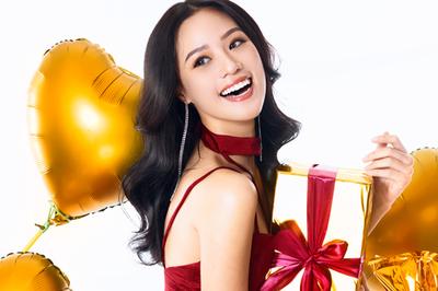 Người đẹp biển Bảo Châu ngọt ngào, quyến rũ đón Noel