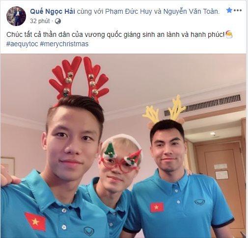 Quang Hải, Bùi Tiến Dũng, Văn Toàn 'nhí nhố' trong đêm Noel