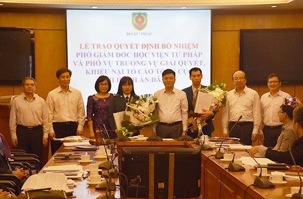 Bộ Tư pháp, Viện KSNDTC bổ nhiệm nhiều cán bộ