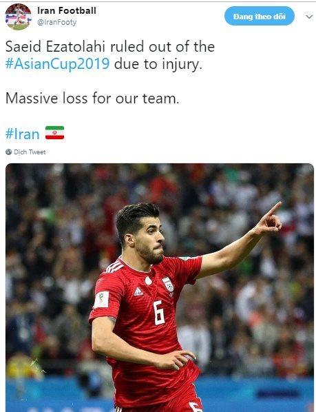 Đối thủ của ĐT Việt Nam liên tiếp nhận tin dữ trước Asian Cup