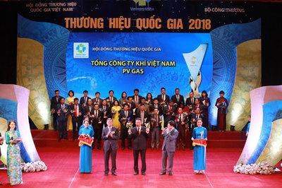 PV GAS được vinh danh Thương hiệu Quốc gia 2018