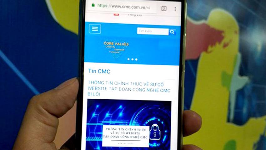 Tập đoàn công nghệ CMC thông báo chính thức về sự cố lộ dữ liệu