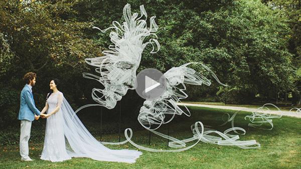 Đỉnh cao vẽ 3D bằng vải tulle khiến ai cũng phải ngỡ ngàng