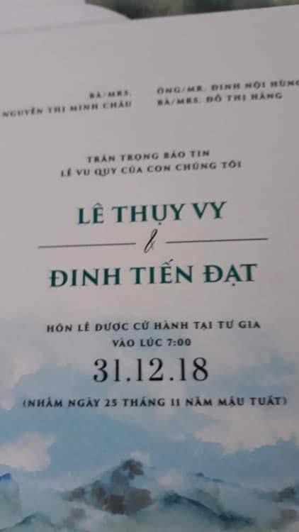 Tiến Đạt, Tiến Đạt cưới vợ,Đinh Tiến Đạt, Tien Dat