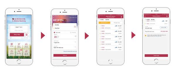 Hoàn tiền cho khách đặt vé tàu, xe trên Agribank E-Mobile Banking