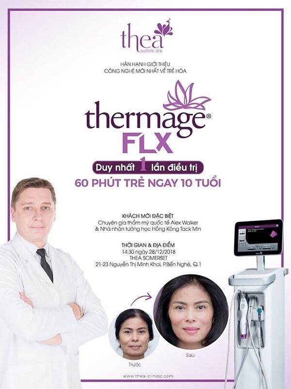 Công nghệ Thermage FLX tại Thea trẻ hơn 10 tuổi trong 60 phút