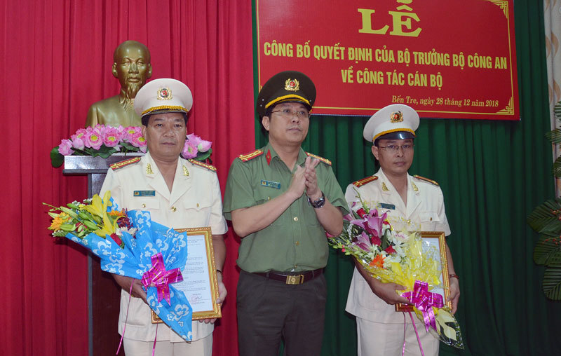 Bộ trưởng Công an bổ nhiệm 3 Phó GĐ Công an tỉnh