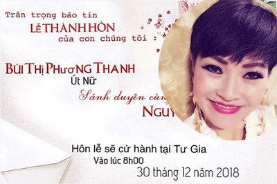 Phương Thanh gây xôn xao khi đăng thiệp cưới vào ngày 30/12
