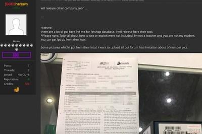 Hacker lại tung cơ sở dữ liệu được cho là của FPT Shop
