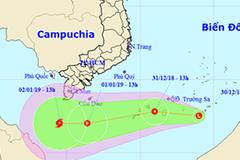 Thêm vùng áp thấp khả năng thành bão trên Biển Đông, hướng về Cà Mau