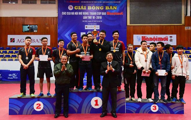 Bế mạc Giải Bóng bàn các CLB Hà Nội mở rộng 2018