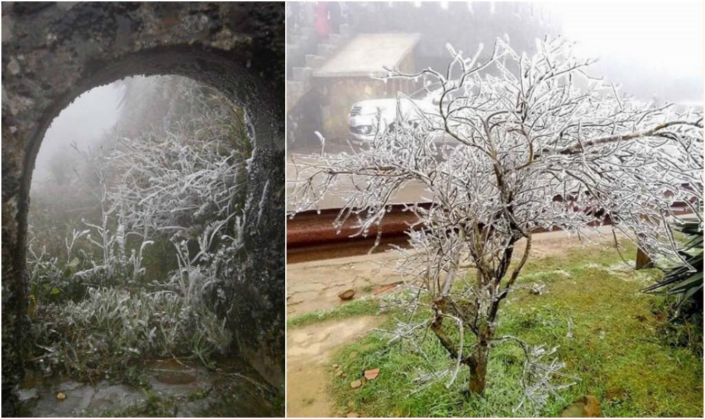 Giới trẻ không ngại giá rét check-in băng tuyết ở Mẫu Sơn