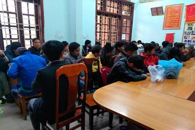 Triệt phá sới đá gà khủng ở Quảng Trị, bắt 63 người