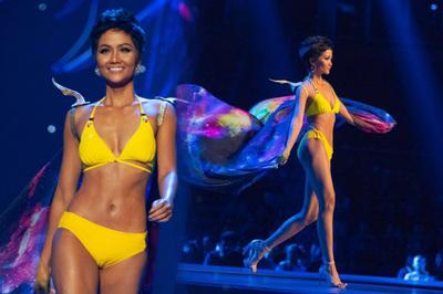 H'Hen Niê lọt Top 5 Hoa hậu diễn bikini nóng bỏng nhất 2018