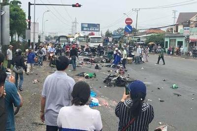 Xe container tông chết 4 người có phải do mất phanh?