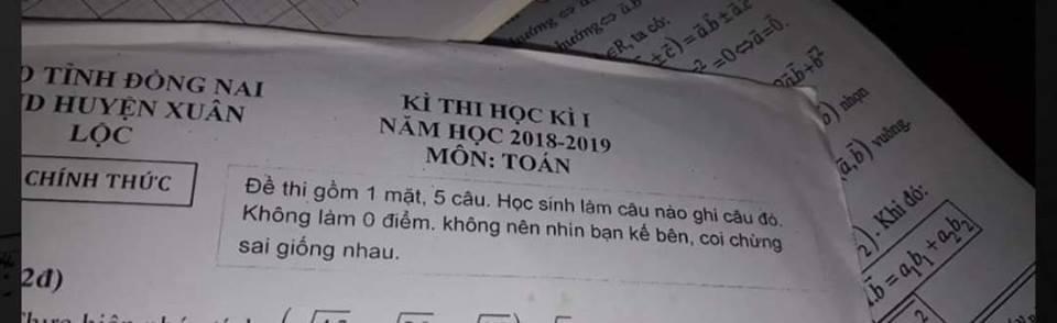 Những lời nhắn hài hước của thầy giáo trong đề cương ôn tập 'gây bão'