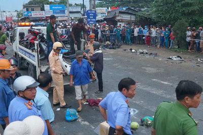Xe container tông 4 người chết ở Long An: 'Thần chết' đã nhiều lần gõ cửa