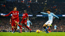 Man City hạ gục Liverpool nhờ phút lóe sáng của Sane