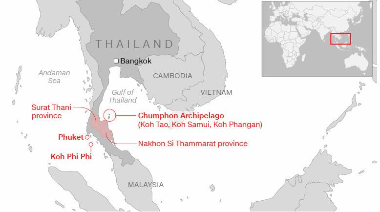 Thái Lan,bão nhiệt đới,bão Pabuk,Dự Báo Thời Tiết,Tin Thời Tiết,Thời Tiết