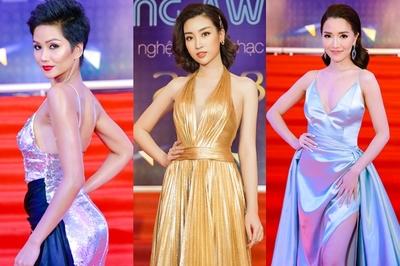 H'Hen Niê, Mỹ Linh diện váy táo bạo khoe vòng 1 gợi cảm