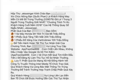 Lừa đảo 'trúng thưởng Honda SH' trên Facebook bùng phát dịp cận Tết
