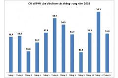 PMI Việt Nam chốt năm 2018 tiếp tục dẫn đầu ASEAN