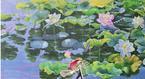 Chiêm ngưỡng hai bức tranh sen khổng lồ mới xuất hiện ở Hà Nội