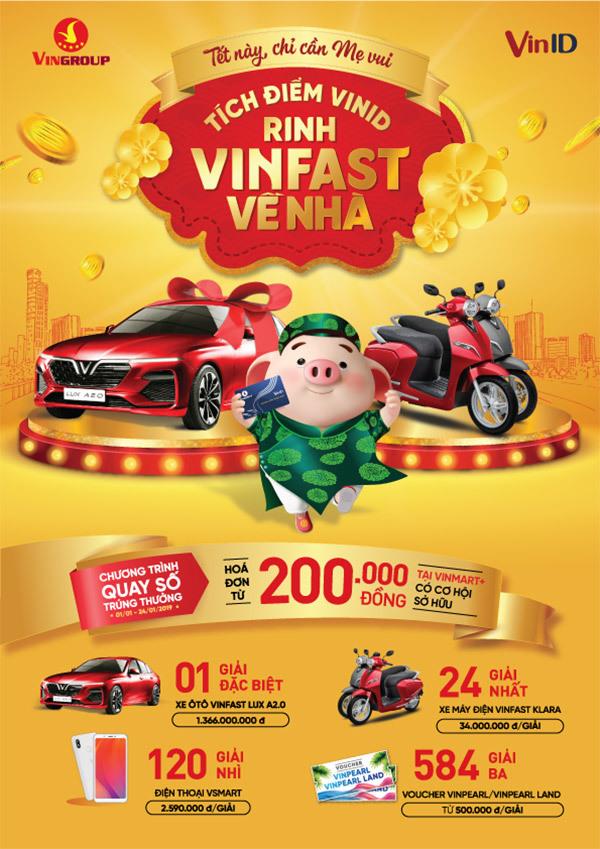 TếtKỷ Hợi, VinID tặng xe VinFast tri ân khách hàng