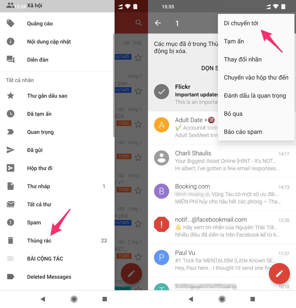 3 cách khôi phục email đã xóa trong Gmail