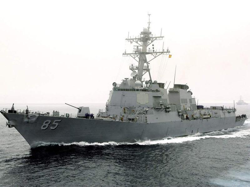 Cận cảnh tàu khu trục Mỹ vừa áp sát Hoàng Sa