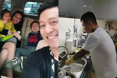 Tuấn Hưng rửa bát nịnh vợ và khoe siêu xe từng gặp tai nạn