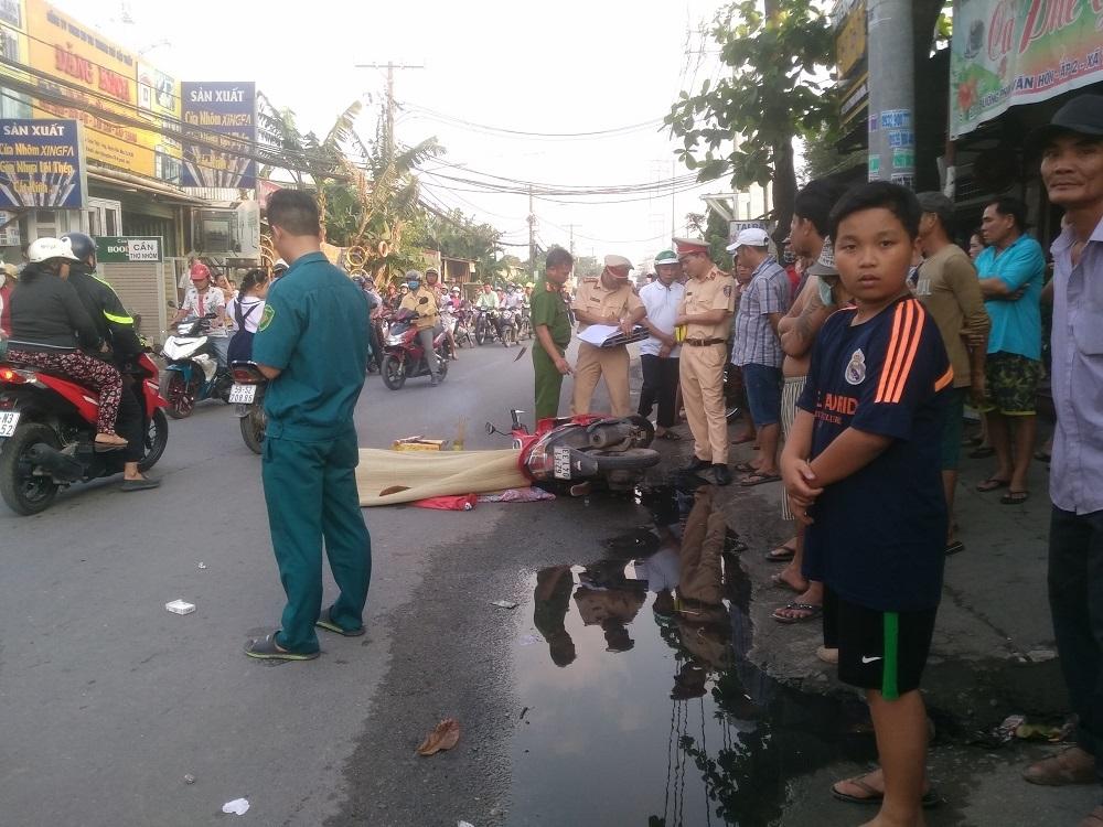 Cô gái chết thảm dưới gầm xe tải ở Sài Gòn
