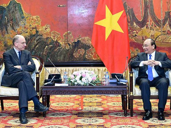 Thủ tướng tiếp chủ tịch Hiệp hội Italy-ASEAN