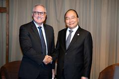 Thủ tướng tiếp lãnh đạo Tập đoàn Công nghiệp Sembcorp, Singapore