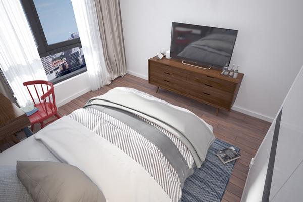 Căn hộ 2 phòng ngủ hút khách hàng dịp Tết